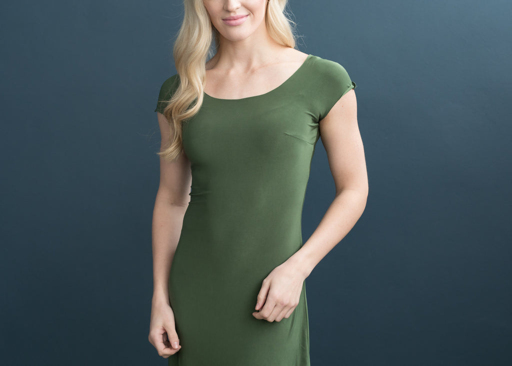 Lizzy Slip Cap Sleeve Scoop Neck Dress Slip - LE ♥