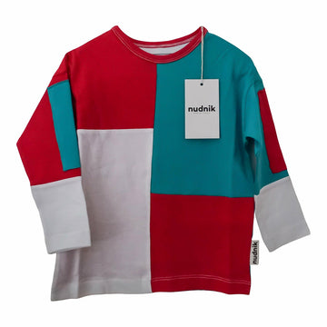 Originator Long Tee in Colourblock - NUDNIK