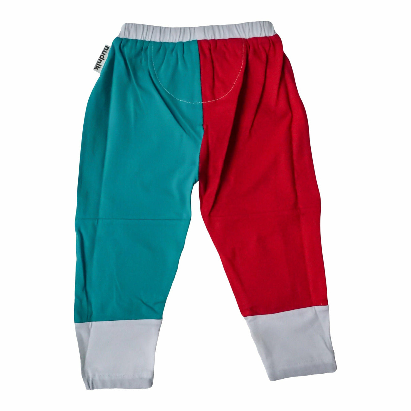 CREATOR PLAYPANT in Roaring Red + Treat Teal - NUDNIK