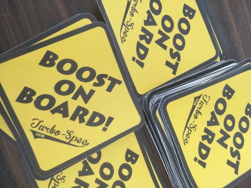BOOST ON BOARD Stickers