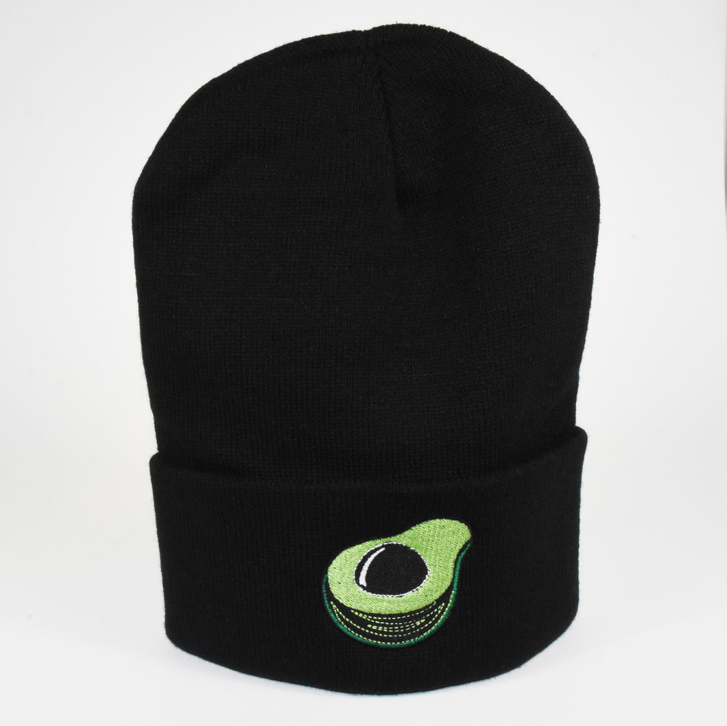 GUACS Avocado Beanie Black