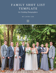 Family Formals Shot List Template