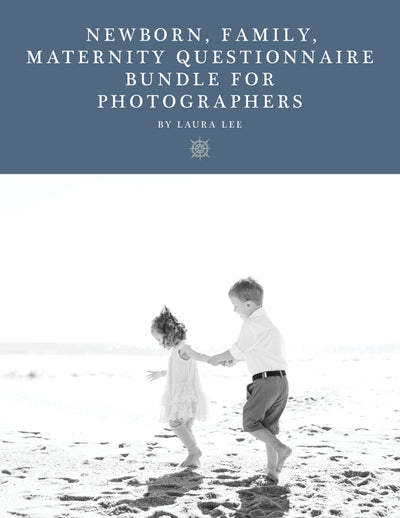 Newborn, Maternity, Family Questionnaire Bundle for Photographers