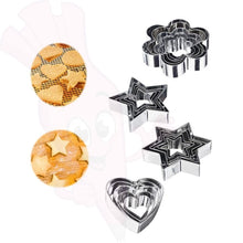 20 Pcs Baking Mold Stainless Steel Christmas Biscuits Cookie Stamp Baking Mold Kitchen Cookie Mold Cake Decoration Tool Mold Cookie Cutter