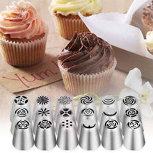 20 Pcs Cake Decoration Tips Cake Cupcake Decorating Supplies Ymiko Russian Nozzles Piping Tips With 20 Disposable Piping Bags+ 2C Decorating