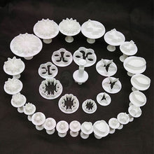 33Pcs/set Sugarcraft Cake Decorating Mold Fondant Plunger Cutters Tools Eco-Friendly Cookie Biscuit Baking Accessories