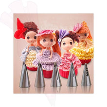 5 Pc Piping Nozzle Set Doll Skirt & Flower Tips Cake Decorating