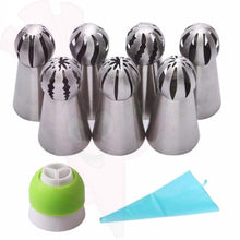 7 Piece Russian Piping Tips Ruffle Makers (Sphere)