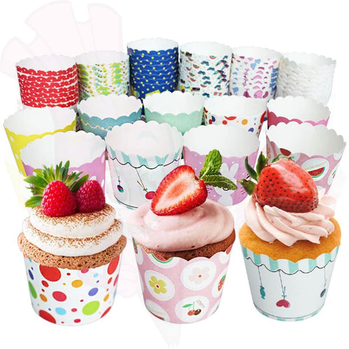 Decoration Set Cupcake Huggers 50 Colorful Baking Liners