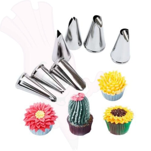 Flowers And Foliage Piping Set - Seven Piece Collection