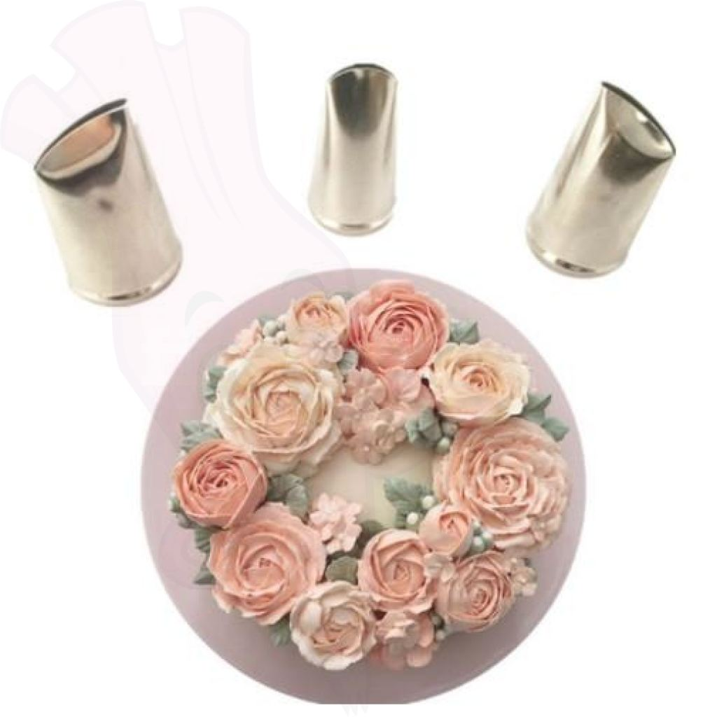 Rose Flower Piping Tools (3 Piece Set)