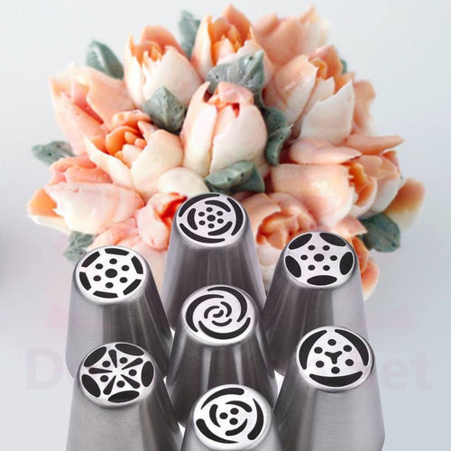 Russian Piping Tips /russian Tulip Nozzles /cake Icing Set