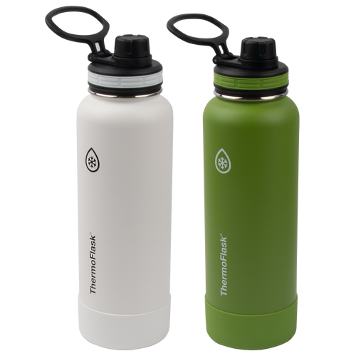 ThermoFlask® Bottles with Spout Lid Two Pack, 40 oz