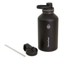 NEW! Thermoflask Bottle with Chug Lid and Straw Lid, 64 oz -Black