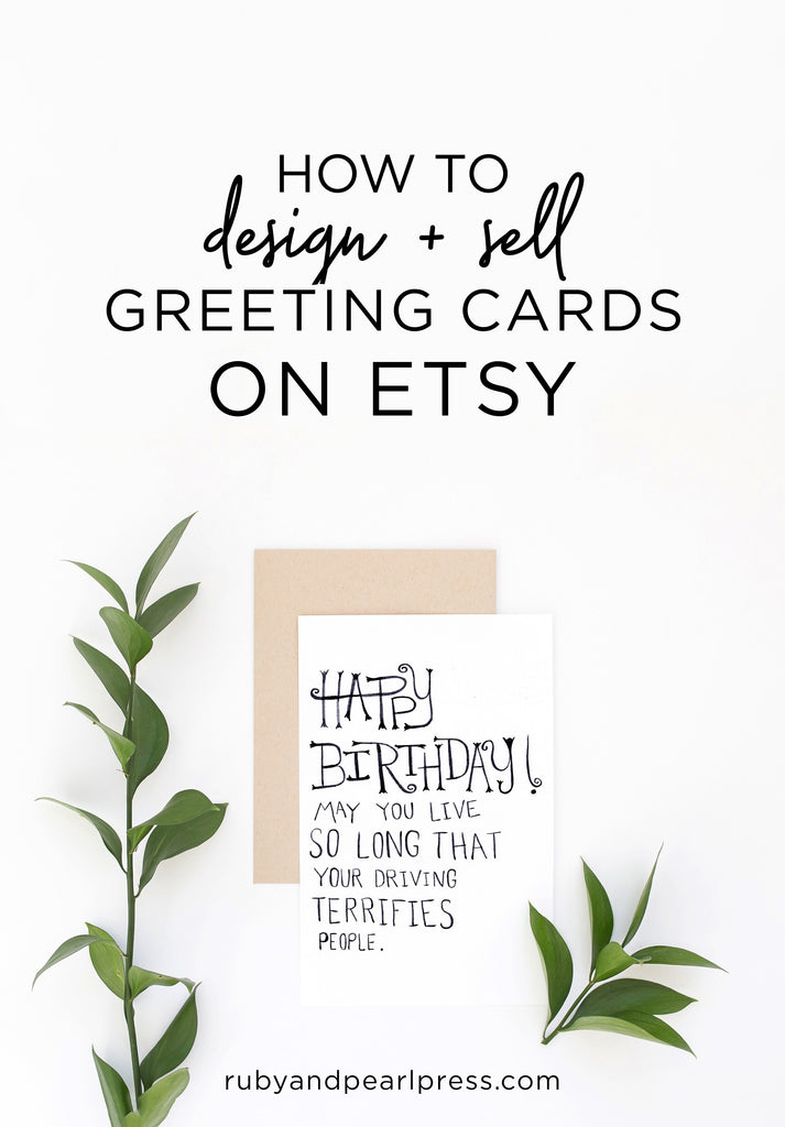 How to design + sell greeting cards on Etsy