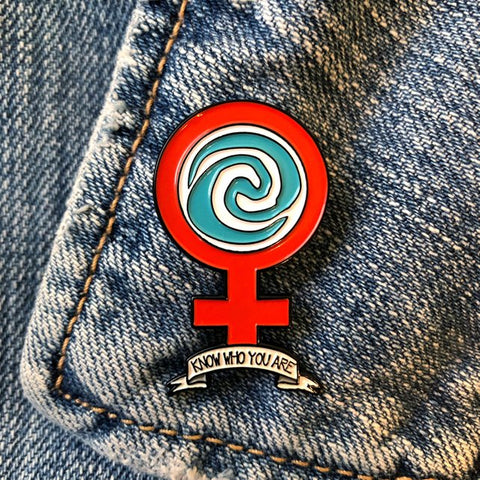 Moana Feminist Pin by as happy as goods