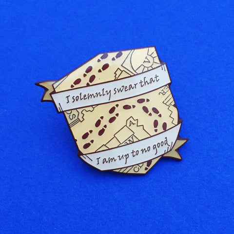 Harry Potter Pin Solemnly Swear I Am Up To No Good by FairyCakes on Etsy