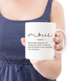 moxie definition coffee mug book lover gift