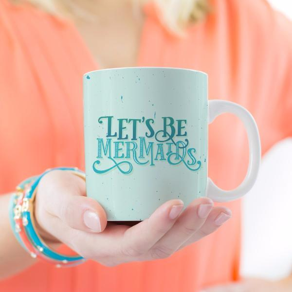 Let's Be Mermaids Mug - Green Blue