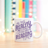 Reality Vs. Reading Mug Purple