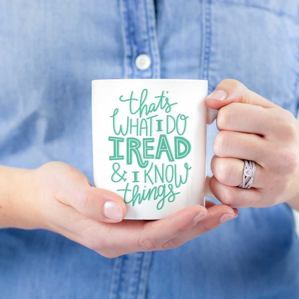 read know things funny bookish mug