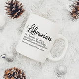 Librarian Funny Definition Mug