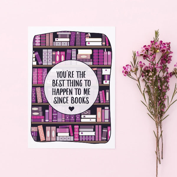 Literary Funny Valentine Card Book Reader Geek