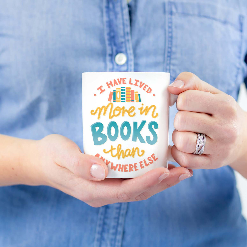 Lived More In Books Mug