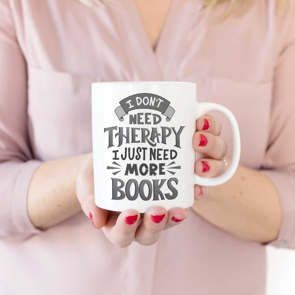 Therapy or Books Funny Book Lover Mug Gift