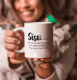 courage definition quote mug sisu