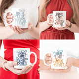 High Fae gift for book reader girl nerds reading mug tea present