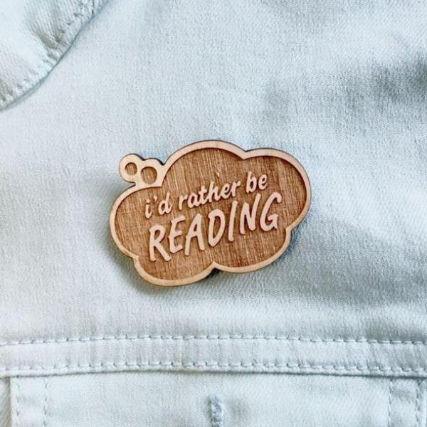 Rather Be Reading Book Nerd Pin