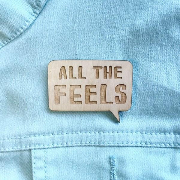 All The Feels Book Pin