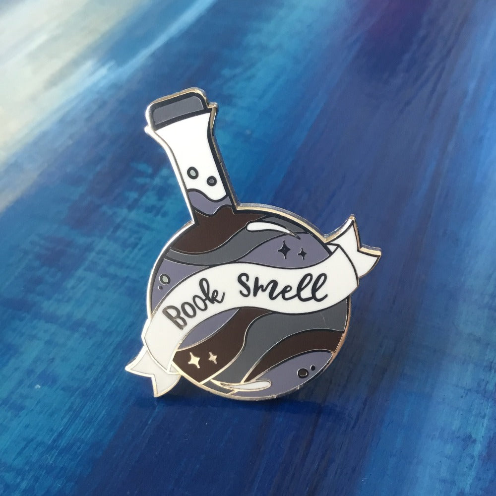 book smell potion enamel pin