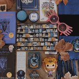 Book Gift Nerdy Girl Bookcase Pattern Ravenclaw