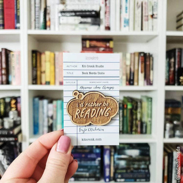 Rather Be Reading Bookish Pin Nerd Girl Brooch Teen Book Gift