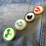 Enamel Pin Set Mythical Animals Book Gift