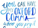 Art Print - Oxford Comma Love