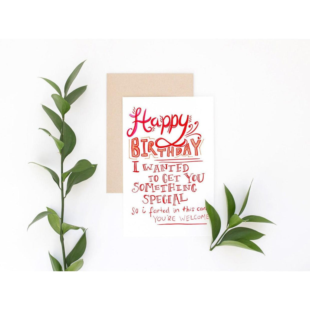 Funny Birthday Card - Happy Birthday Fart Card