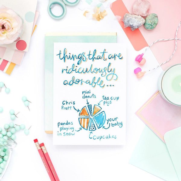 New Baby Card - Things that are adorable