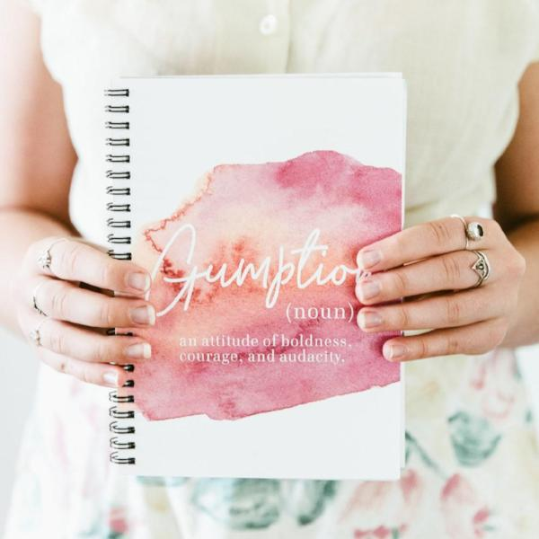 Spiral Notebook - Definition of Gumption Watercolor