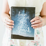 Spiral Notebook - Eyes On The Stars Quote
