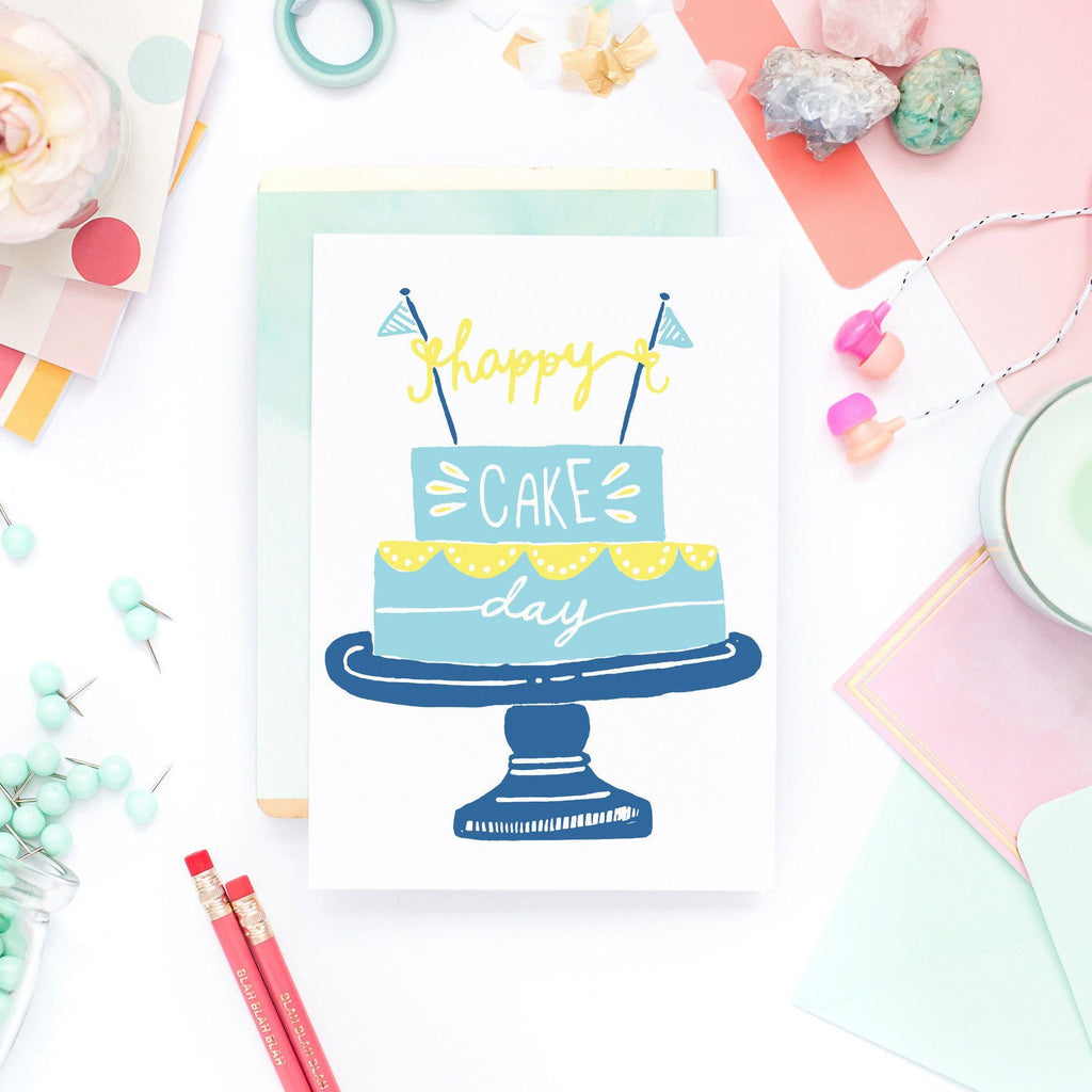 Funny Birthday Card - Happy Cake Day