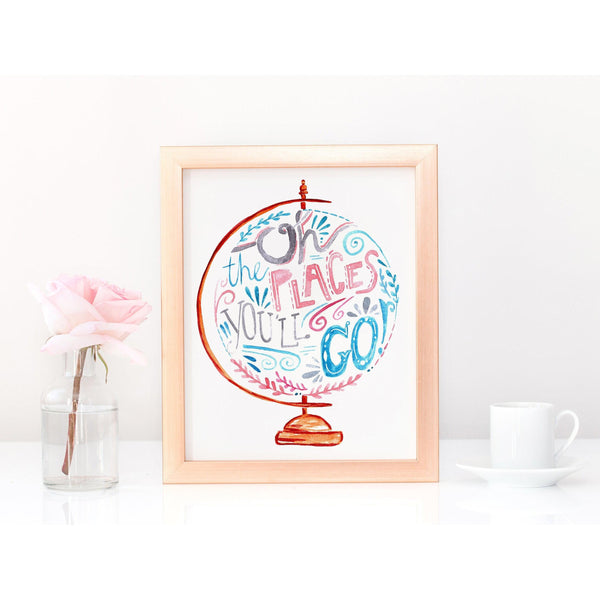 Art Print - Oh The Places You'll Go Pink