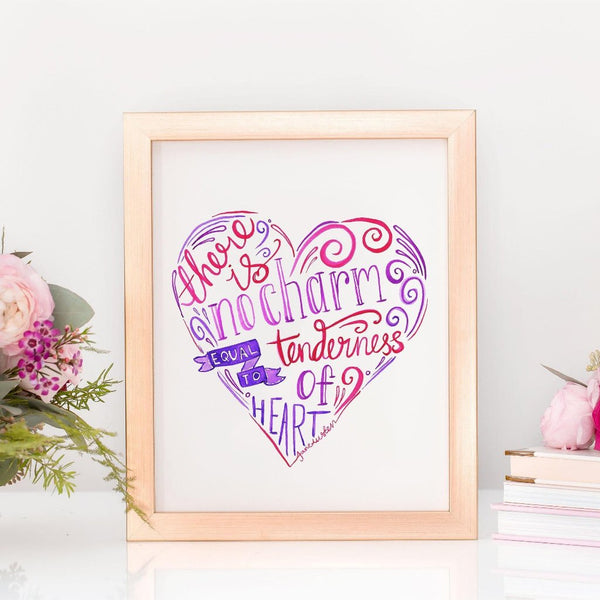 Art Print - Jane Austen Love Quote
