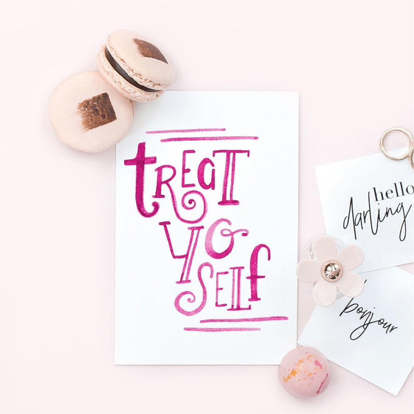 Birthday Card - Treat Yo Self