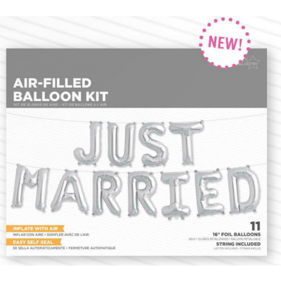 Just Married Balloon Kit - Balloonies Studio