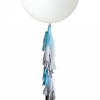 "Balloon Tail Kit - "" BLUE , GREY & SILVER "" - Balloonies Studio"