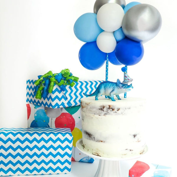 Balloon Cake Topper Kit - Blue - Balloonies Studio