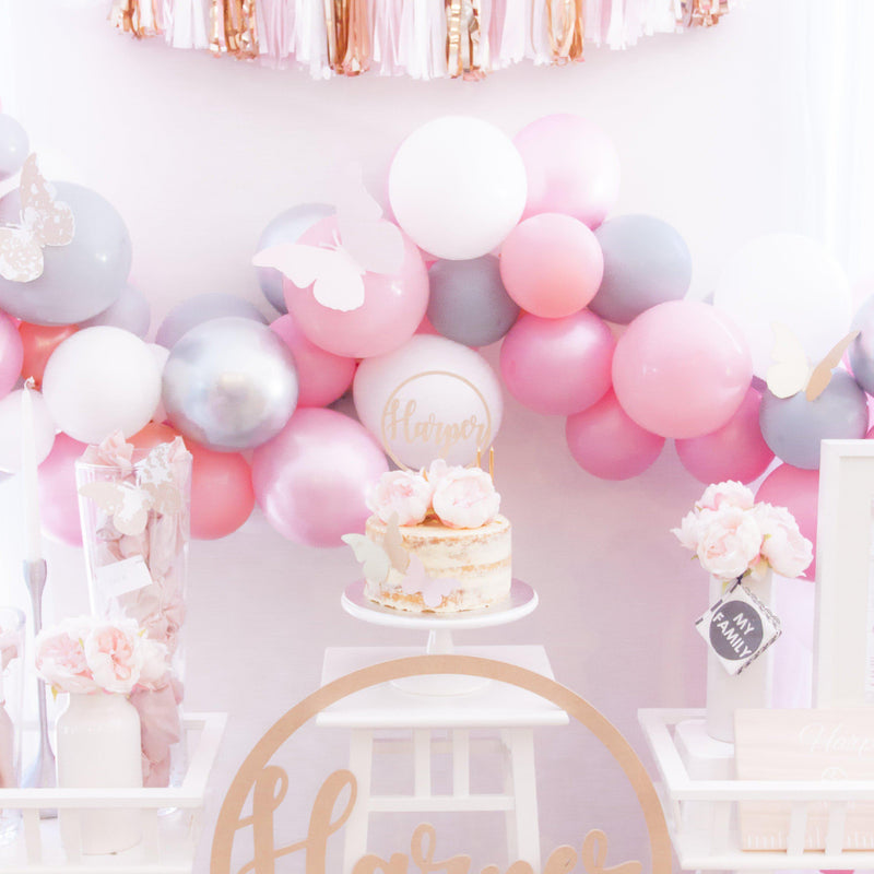 ROSE GOLD  BLUSH & WHITE - Balloonies Studio